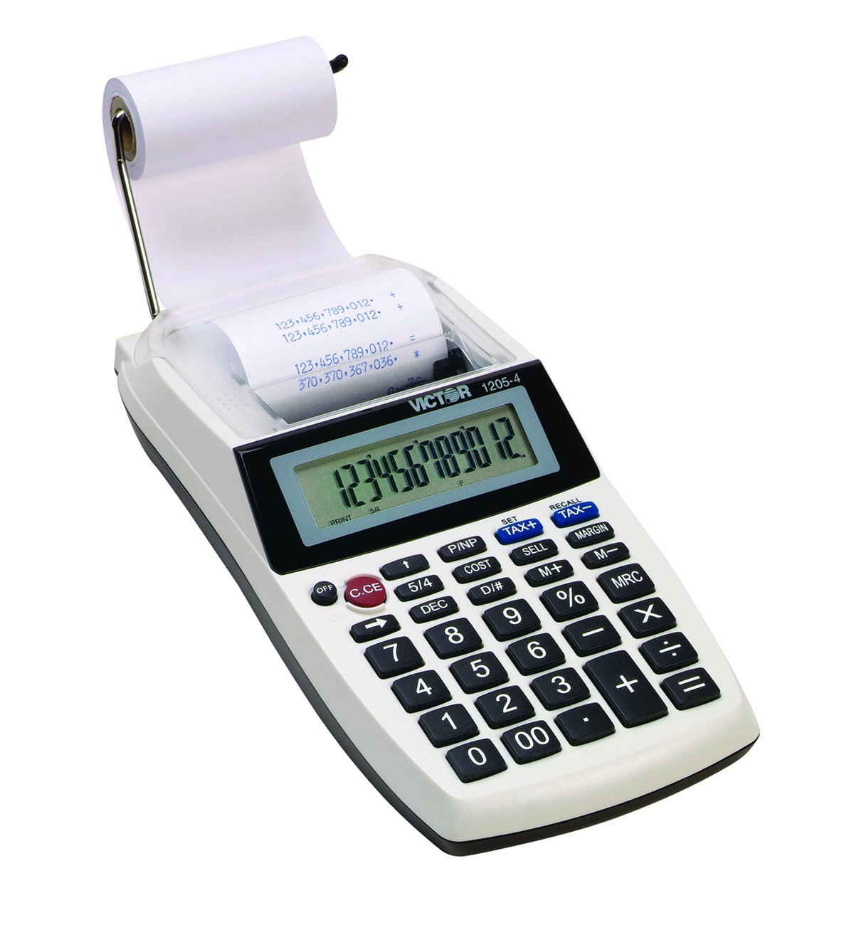 Victor 1205-4 12-Digit Portable Printing Calculator for Business and Office Use, 4X AA Battery Powered Adding Machine Caclulator with Tape, 2.0 Lines/Sec