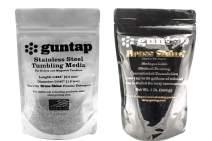 "guntap Stainless Steel Tumbling Media + Brass Shine Powdered Detergent Bundle (1lb Media (.047"" x .255"" pin Size), 1lb Brass Shine Powdered Detergent)"