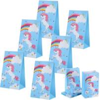 TOODOO 30 Pack Unicorn Party Bags Party Favor Bags Goodies Gift Favors Supplies Decorations for Kids Birthday