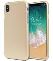 iPhone X Case, iPhone 10 Case, [Ultra Slim Fit] GOOSPERY i-Jelly Case [Metallic Finish] Impact Resistant [Flexible] Rubber TPU Bumper Case [Shock Absorption], (Metallic Gold) IPX-IJEL-GLD