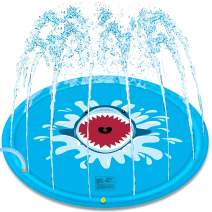 Lukeight Splash Pad, 68 Inches Sprinkler for Kids, Inflatable Sprinkler Pad Water Toys, Outdoor Swimming Toys Large Wading Pool Water Play Sprinklers for Toddlers and Babies (Sprinklers C)