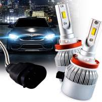 Brightt LED Headlight Bulbs Conversion Kit (H11/H8/H9) (pack of 2) High-Power Restoration Kit, 200% Brighter than Stock Headlights – 50,000 Hours Continuous Use, 8000 Lumens, 6000k White