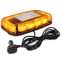 AURELIO TECH Emergency Strobe Lights with Magnetic Base, 36 LED, 15 Flashing Modes Hazard Warning Light Bar for Trucks, Cars, Construction Vehicles, Snow Plow (Amber/Yellow)