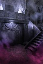 AOFOTO 5x7ft Gloomy Gothic Style Backdrop for Photography Scary Vintage Room Stone Wall Stairs Candle Halloween Background Photo Studio Props Adult Girl Boy Kid Artistic Portrait Wallpaper