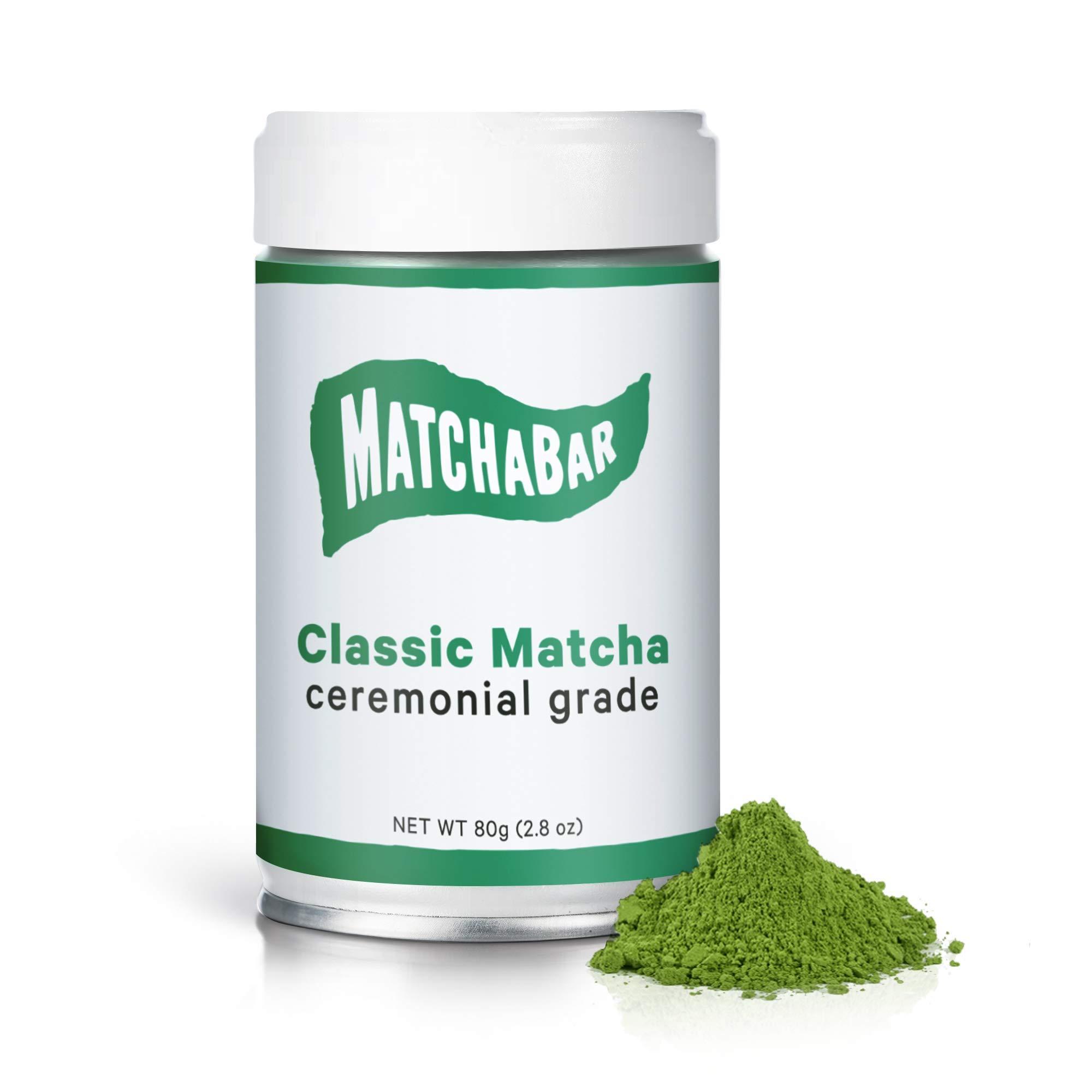 MatchaBar Ceremonial Grade Matcha Green Tea Powder | Premium, First Harvest from Kagoshima, Japan | 80g Tin = 40 Servings