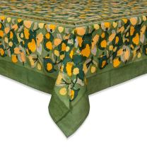 Couleur Nature Fruit Design Tablecloth, 71-inches by 71-inches, Yellow/Green