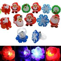 FineInno 50Packs LED Ring Flash Finger Lights Luminous Toys Multicolor Glow Ring Party Favor,Festival Rave Accessories,Random Style (50 pcs Rings)