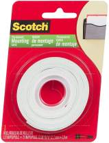 3M 110-3M Scotch 110- Indoor Mounting Tape, 1/2-inch x 75-inches, White, 1-Roll (110) - 1 Pack