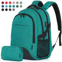 Travel Laptop Business Backpack Anti Theft College Computer Bagpack Keyhole zipper Design Fits 15.6 Inch Notebook with USB Charging Port & Reinforce Straps Bonus a Small pencil Case, Fruit green