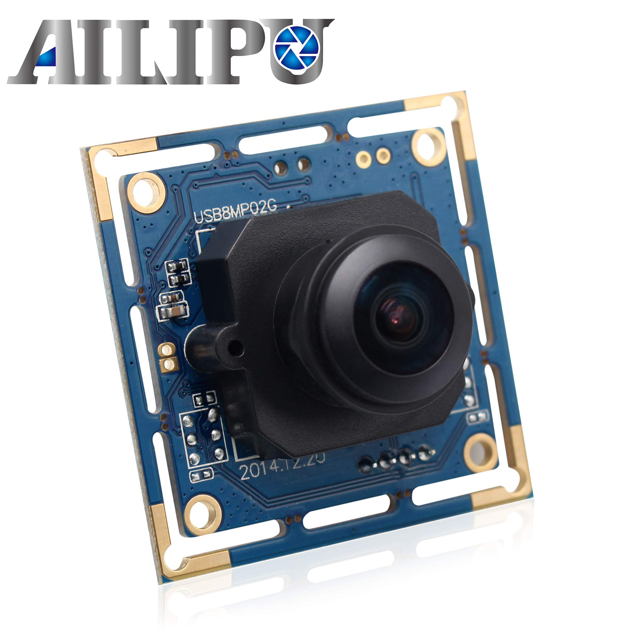 Mini USB Camera Module HD Webcam 8mp Security Camera System Sony IMX179 Industrial Camera for Android Mac Linux Raspberry Pi (180 Degree fisheye Lens)