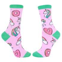 HAPPYPOP Funny Donut Cake Macaron Socks, Crazy Food Dessert Sock for Women Girls