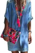 Shawhuwa Swimsuit Bikini Cover up Beach Swimwear Hollow Out Crochet Tunic Dresses for Women