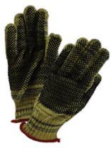 Magid Glove & Safety KA1000PR-9 CutMaster KA1000PR Kevlar Armor Blend Dotted Knit Gloves - Cut Level 5, Standard Kevlar and Armor Kevlar Yarn Blend, Size 9, Black/Yellow