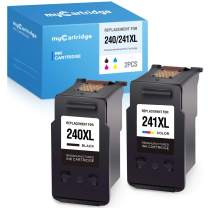 myCartridge Remanufactured Ink Cartridge Replacement for Canon 240 240XL 241 241XL PG-240XL CL-241XL (1 Black, 1 Tri-Color, 2-Pack)