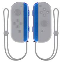 eXtremeRate Chameleon Purple Blue Replacement Shell for Nintendo Switch Joycon Strap, Custom Joy-Con Wrist Strap Housing Buttons for Nintendo Switch - 2 Pack