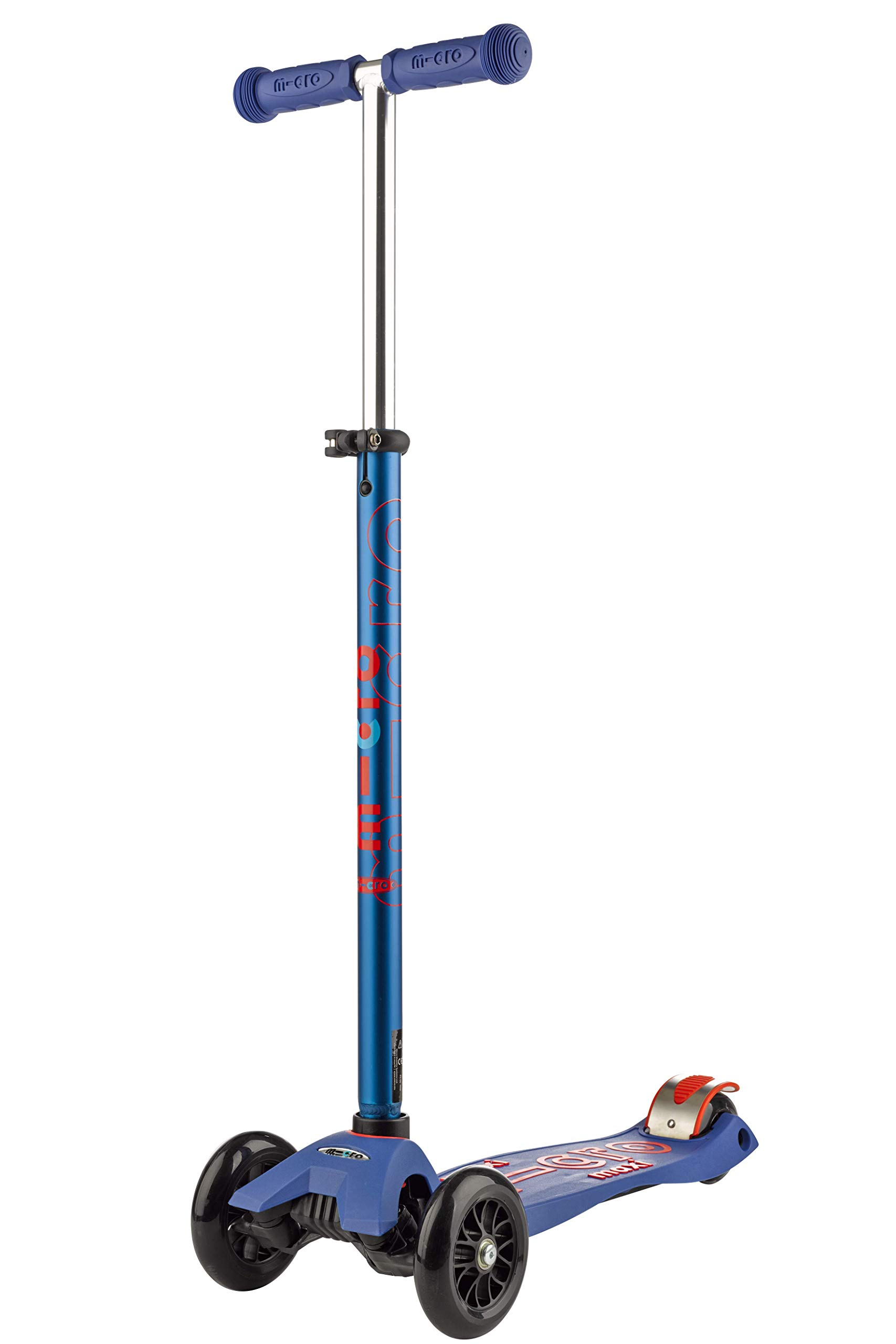 Micro Kickboard - Maxi Deluxe 3-Wheeled, Lean-to-Steer, Swiss-Designed Micro Scooter for Kids, Ages 5-12 - Blue