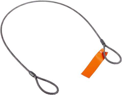 "Mazzella Mechanical Splice Wire Rope Sling, Eye-and-Eye, 6 x 37 IWRC, 3' Length, 1/2"" Diameter, 8"" Eyes, 5000 lbs Vertical Load Capacity"
