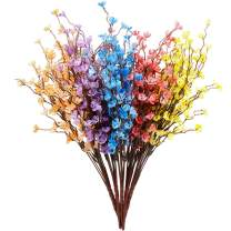 ODOM Artificial Flowers Multi-Color, with Air Purifying, Fake Real Touch Flower Plants UV Resistant for Outdoor Wedding Bridle Bouquet Indoor Home Office Party Hotel Restaurant Christmas Decor