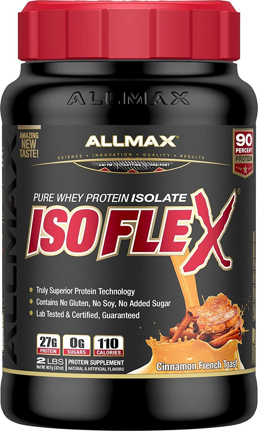 ALLMAX Nutrition Isoflex 100% Pure Whey Protein Isolate, Cinnamon French Toast, 2 lbs