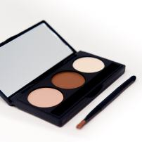Sienna Blaire Beauty Brow Contour Kit, 3 Color Eyebrow Powder/Shadow and Brush with Stencil Kit