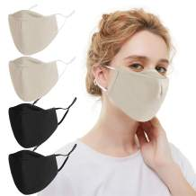 washable face mask with adjustable earloop and filter pocket of man, woman and big kid for office,home,outdoor,school,sports