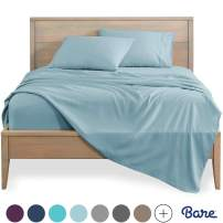 Bare Home Full Sheet Set - Kids Size - 1800 Ultra-Soft Microfiber Bed Sheets - Double Brushed Breathable Bedding - Hypoallergenic - Wrinkle Resistant - Deep Pocket (Full, Light Blue)
