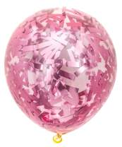 PartyWoo Pink Balloons 50 pcs 12 Inch Pink Confetti Balloons