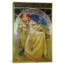 iCanvasART 1-Piece Princess Hyacinth '1911' Canvas Print by Alphonse Mucha, 0.75 by 8 by 12-Inch