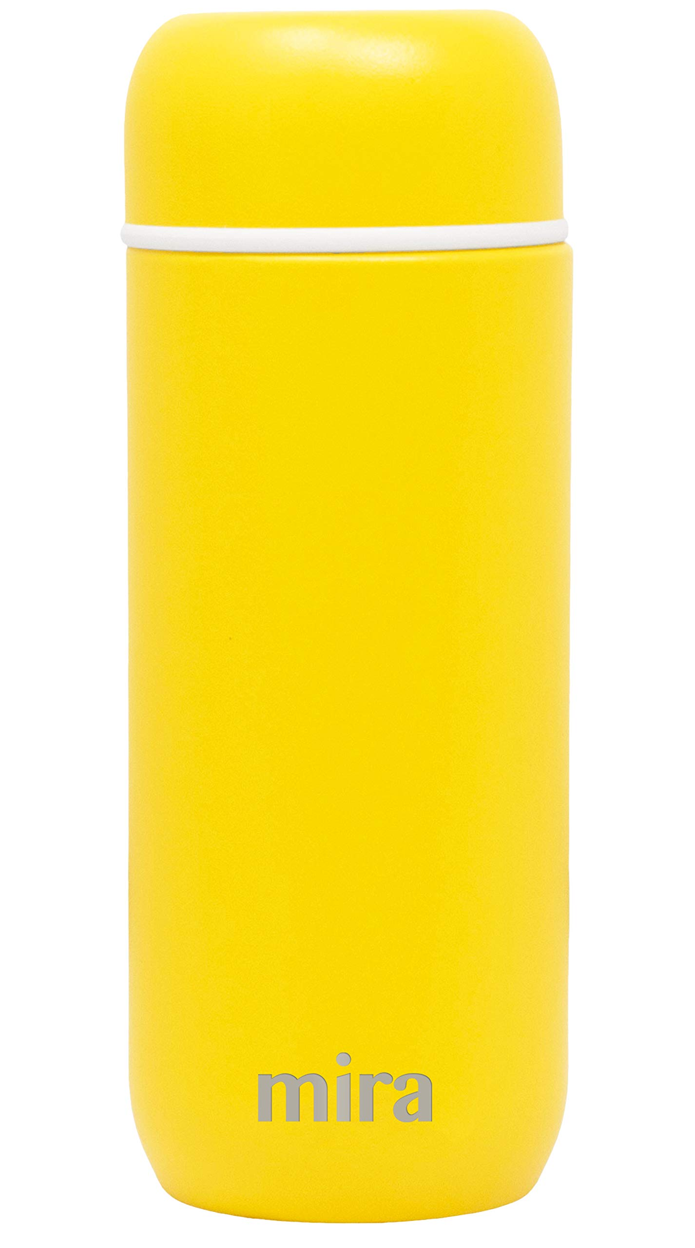 Mira 7 oz Insulated Small Thermos Flask | Kids Vacuum Insulated Water Bottle | Leak Proof & Spill Proof | Lemon Yellow