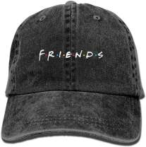Waldeal Women's Friends Baseball Caps Embroidered Adjustable Denim Ball Cap Dad Hat Gifts