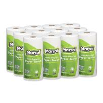 """Marcal Paper Towels U-Size-It Sheets 2 Ply 140 Sheets Per Roll 100% Recycled - 12 """"Roll Out"""" Rolls Per Case Green Seal Certified Paper Towel Rolls 06183"""