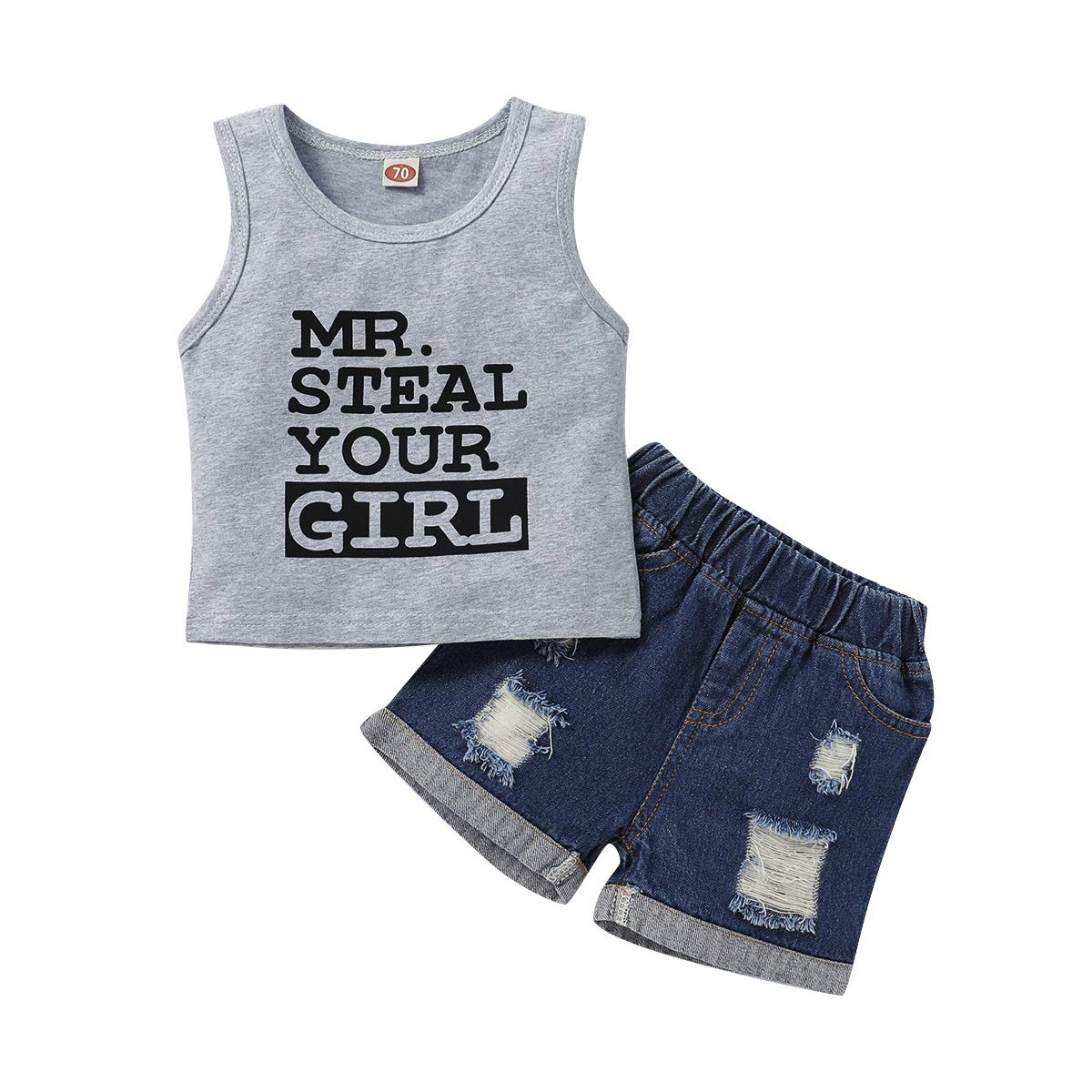 Toddler Baby Boy Clothes Sleeveless Baby Announcement Shirt Camo Shorts Infant Summer Outfit Set