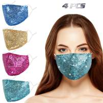 Genovega Reusable Face Mask with Adjustable Ear Loops, Soft Fabric Fashion Design