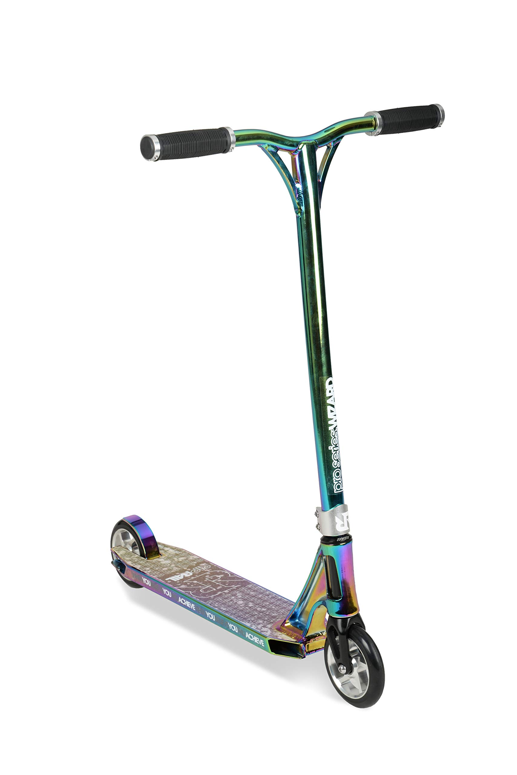 Riprail Pro Series 1 Performance Stunt Scooter with Alloy Jet Fuel Deck with Cut-Out, Alloy Core Wheels, ABEC-9 Bearings, Alloy NECO Threadless Headset, Alloy CNC Fork and Jet Fuel Alloy Bars