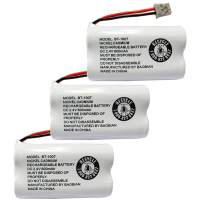BAOBIAN BBTY0651101 cordless phone battery Compatible with for Uniden BT1007 BT-1007 BT904 BT-904 BT1015 BT-1015 BBTY0460001 BBTY0510001 BBTY0624001 BBTY0700001 Panasonic HHR-P506 HHR-P506A(Pack of 3)