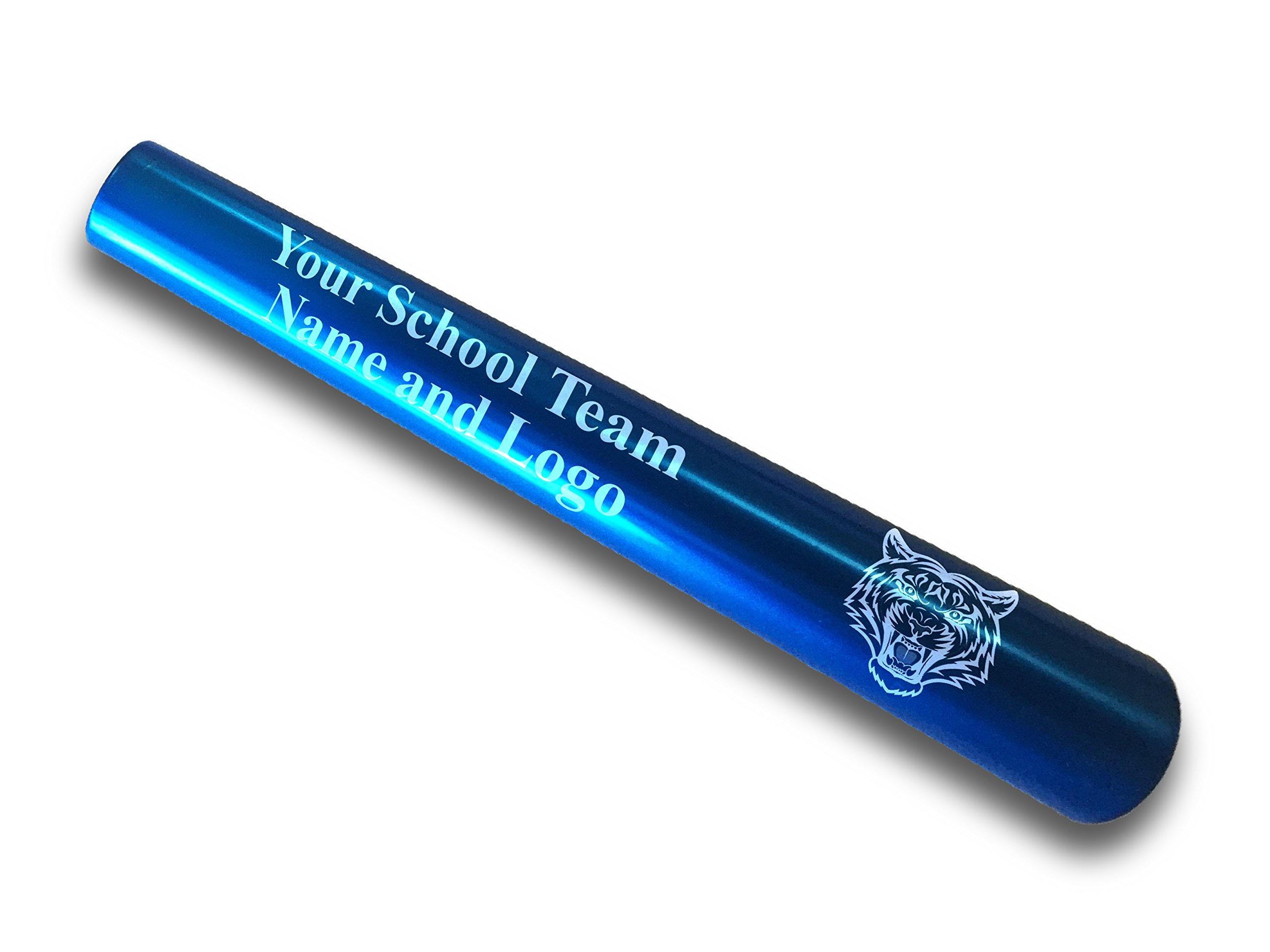 Custom Blue Aluminum Track and Field Relay Baton Personalized Gift For Him, For Her, For Boys, For Girls, For Husband, For Wife, For Them, For Men, For Women, For Kid- Your Team Name and Logo Engraved