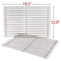 SHINESTAR 19.5-inch Grill Grates Replacement Parts for Weber Genesis 300 Series, Grill Cooking Grates 7528, 7mm Solid Stainless Steel Heavy Duty Grill Grids