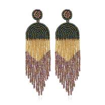 MengPa Tassel Dangle Earrings for Women Statement Beaded Unique Drop Jewelry