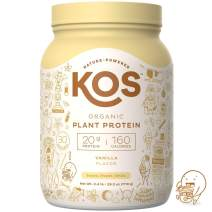 KOS Organic Plant Based Protein Powder – Raw Organic Vegan Protein Blend, 2.4 Pound, 30 Servings (Vanilla)