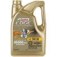 Castrol 03087 EDGE Extended Performance 5W-30 Advanced Full Synthetic Motor Oil, 5 Quart, 3 pack