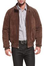 Landing Leathers Men's WWII Suede Leather Bomber Jacket (Regular and Big & Tall Sizes)