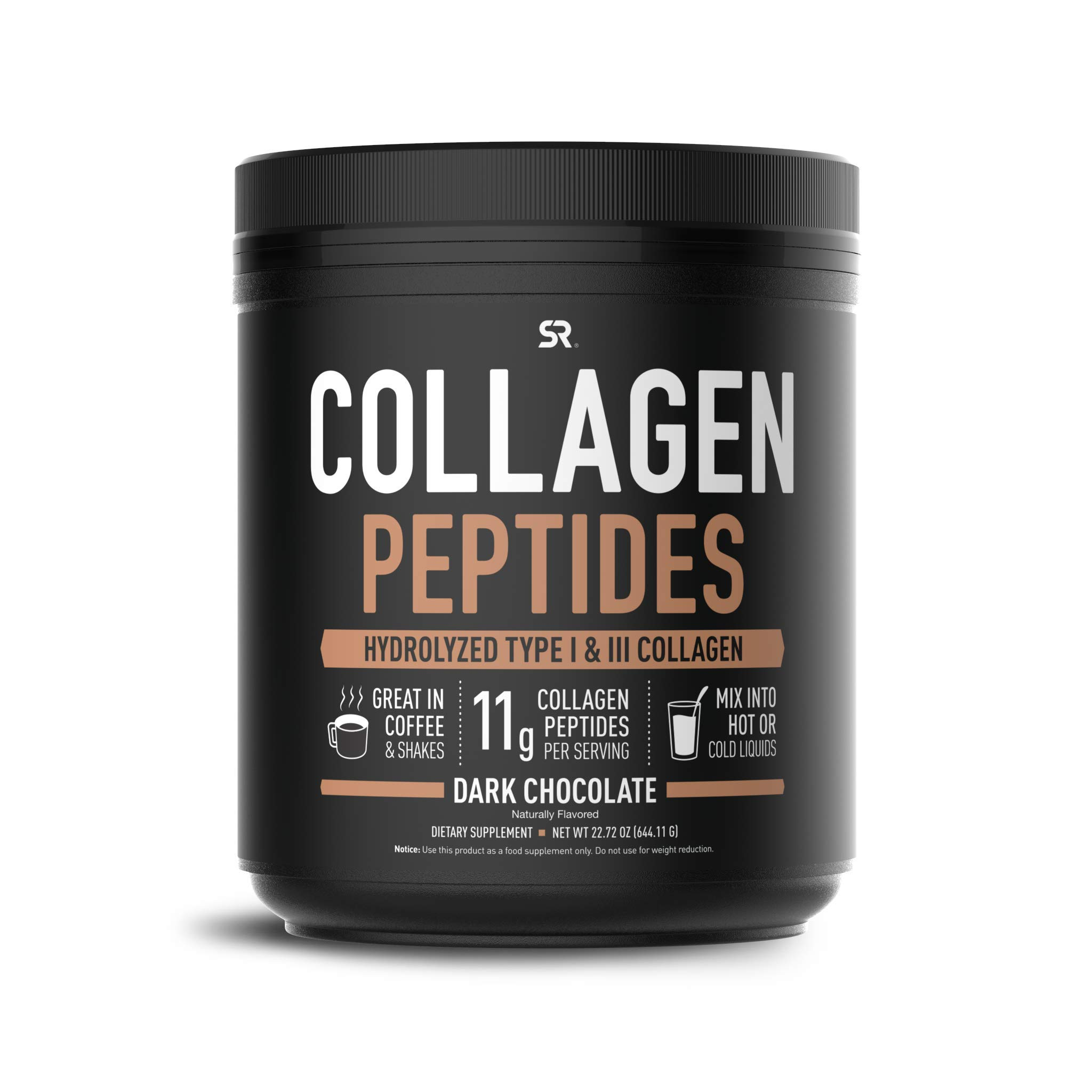 Collagen Peptides Powder (41 Servings) | Delicious Dark Chocolate Flavor That goes Great in Coffee, Water or Protein Shakes | Non-GMO, Paleo + Keto Friendly and Gluten Free