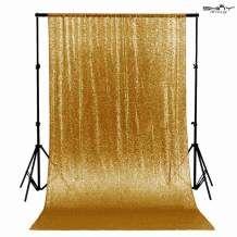 7FTX7FT Gold Shimmer Sequin Fabric Photography Backdrop