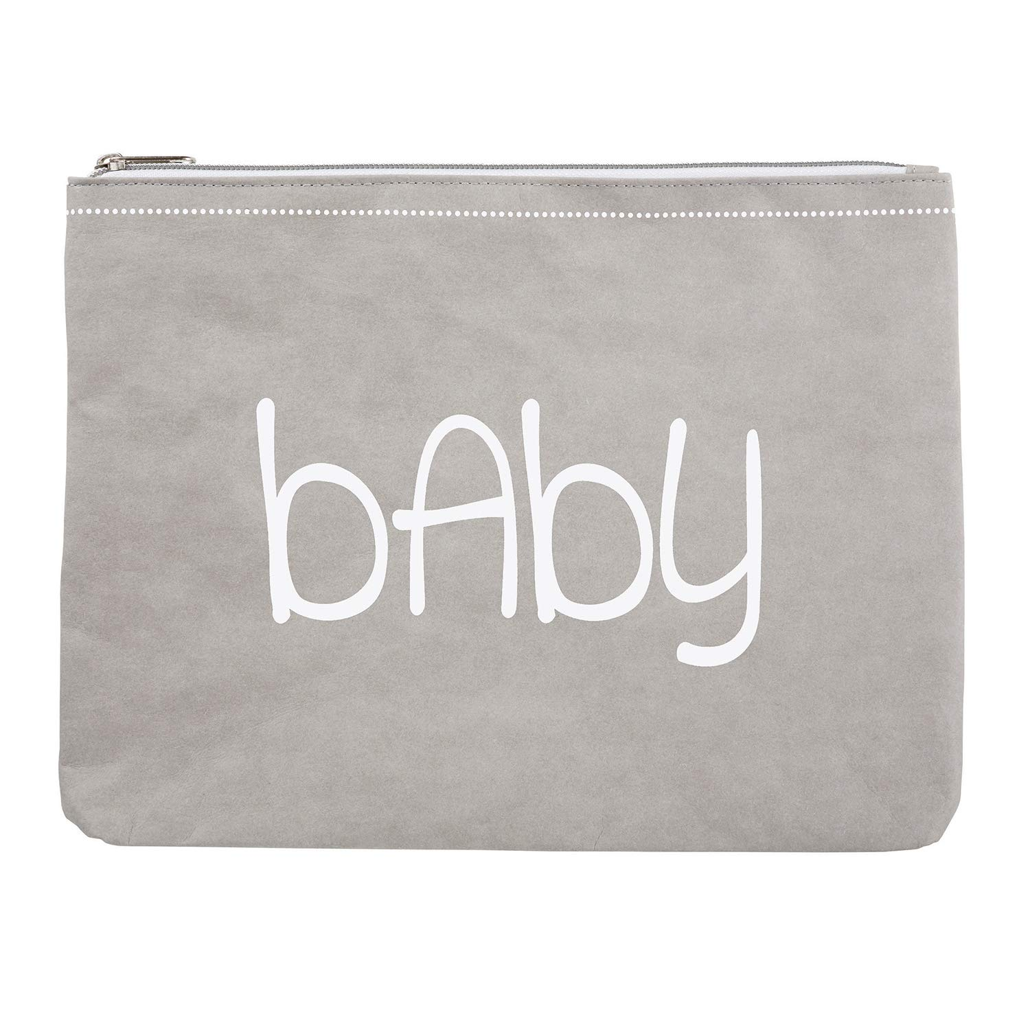 Stephan Baby Washable Paper Large Zippered Pouch, Baby