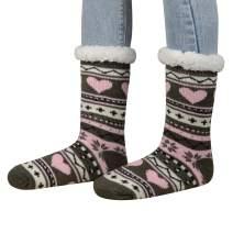 Century Star Womens Winter Super Soft Warm Cozy Fuzzy Socks Fleece-lined Christmas Gift With Grippers Slipper Socks