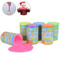 NuoPeng Slime Putty Toy 6pcs Multi Pack Kit, 3.5 OZ/Bottle, Super Soft & Squishy Toy for Party Favor, Stress Relief, Easter Egg Stuffers Non-Toxic