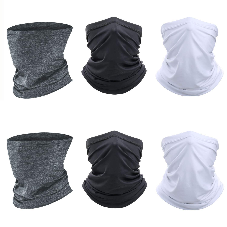 Neck Gaiter 6 PCS Face Mask Cycling Scarf Mask Magic Bandana Balaclava Headwear