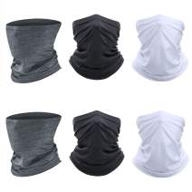 Neck Gaiter 6 PCS Face Mask Cycling Scarf Mask Magic Bandana Balaclava Headwear