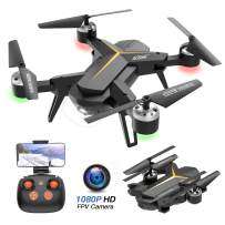 Foldable Drone with 1080P HD Camera for Adults and Kids - WiFi FPV RC Quadcopter for Beginners with Altitude Hold, Voice Control, Gravity Sensor, One Key Return to Home, 2 Batteries