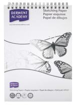 Derwent Academy Sketch Pad, A5, Portrait, 5.83 x 8.27 Inches Sheet Size, Gray, 30 Sheets (2300173)